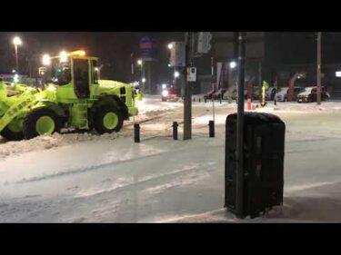 一般国道40号 稚内市 稚内道路維持除雪外一連工事(除雪編)その1(11月21日)